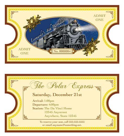 printable tickets to the polar express polar express theme invitation diy printable by