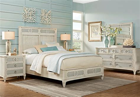 harlowe ivory  white  pc queen bedroom panel