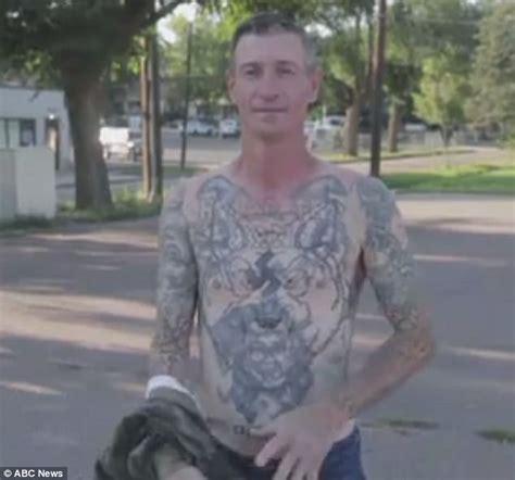 nazi tattoo on chest movie arizona ex neo nazi has his swastika tattoos removed