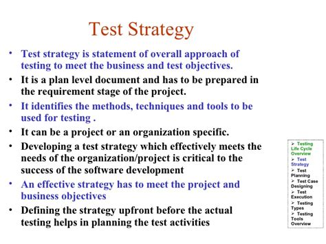 stron biz test automation strategy document template