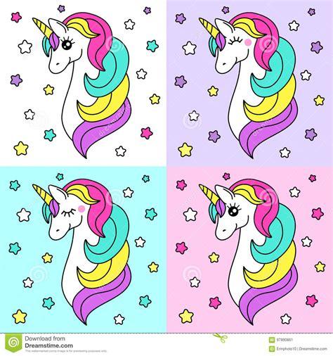 imagenes de unicornios magicos personaje de dibujos animados infantil lindo como
