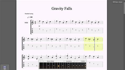 theme song gravity falls guitar tab gravity falls theme song youtube
