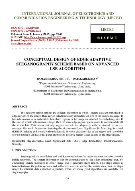 pattern based 3d image steganography conceptual design of edge adaptive steganography scheme