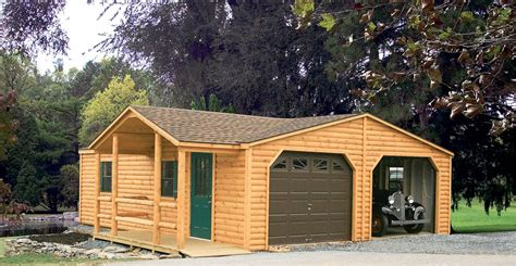 Garages With Lofts by Log Sided Sheds Log Sided Garages Log Sided Storage Sheds