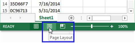 layout guide status bar how to insert page numbers in excel 2016 2010
