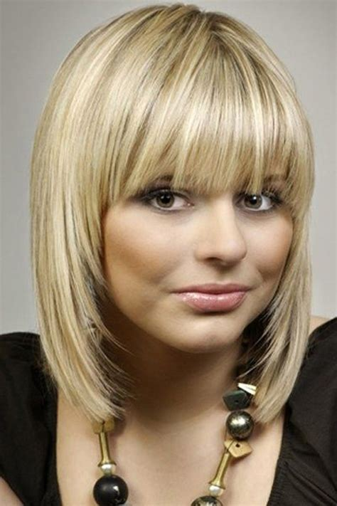 shoulder length hair with wispy bangs medium length hairstyles with bangs for thin hair