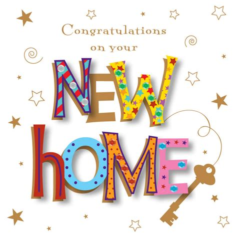 handmade congratulations on your new home greeting card