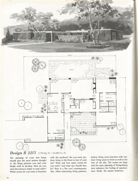vintage home floor plans 17 best images about mid century architecture on