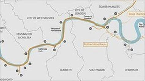 river thames scheme map the thames tunnel a practical environmental solution or