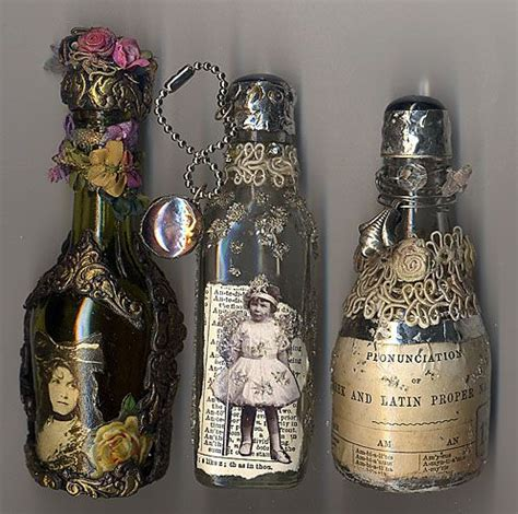 decorative bottles left over glass bottles can be recycled by being used as altered art for