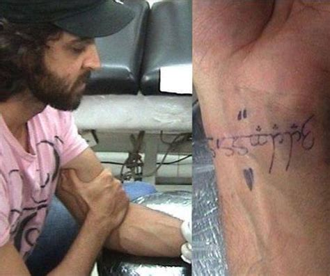 tattoo on hrithik roshan hand bollywood celebrities and their tattoos
