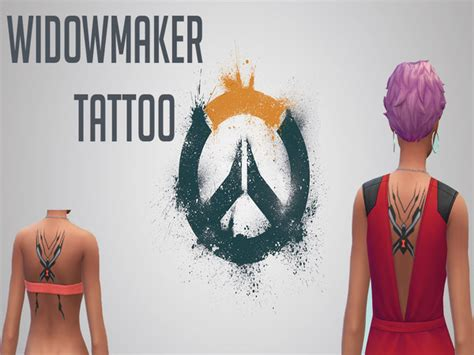 widowmaker tattoo symantic s overwatch widowmaker
