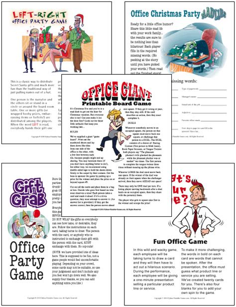 christmas games in office to print and play