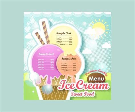 ice cream menu template 19 free premium download