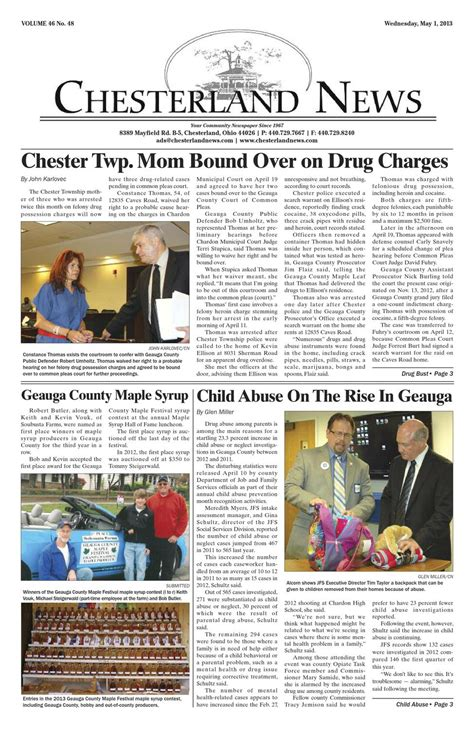 Chardon Municipal Court Records Chesterland News May 1st 2013 By Chesterland News Issuu
