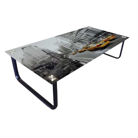 new york 105x55cm tempered glass coffee table decofurn