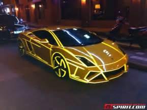 Met Lamborghini Futuristische Lamborghini Gallardo Met Strepen