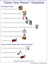 printable clean your room checklist for kids familyeducation