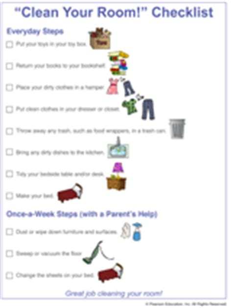 how to clean your room printable clean your room checklist for familyeducation