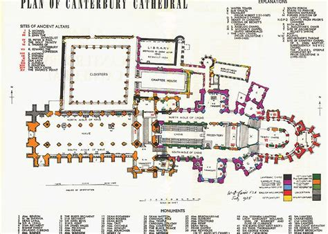 cathedral floor plan canterbury cathedral floor plan plan of canterbury