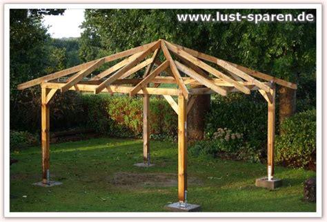 pavillon 3x3 selber bauen gartenpavillon aus holz selber aufbauen lust sparen de