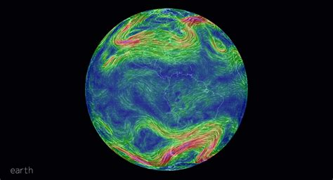 earth weather map earth an animated map of global wind and weather