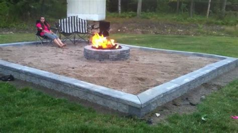fire in the backyard triyae com backyard sand fire pit various design