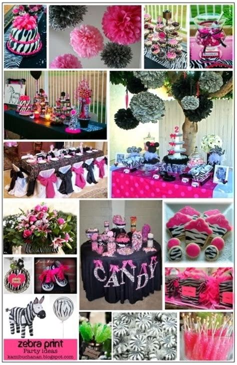 zebra themed birthday party ideas ideas for table with pink and white colors instead pink