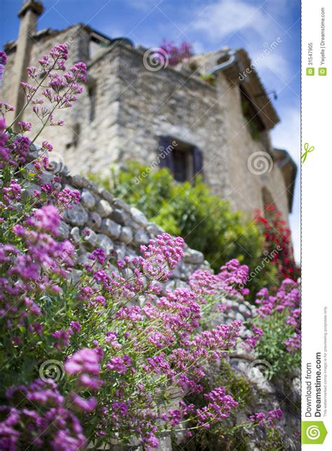 French Country House Plans french village view with flowers provence france stock