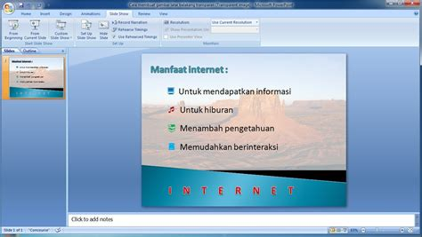 membuat video powerpoint 2007 tutorial powerpoint 2007 cara membuat gambar latar