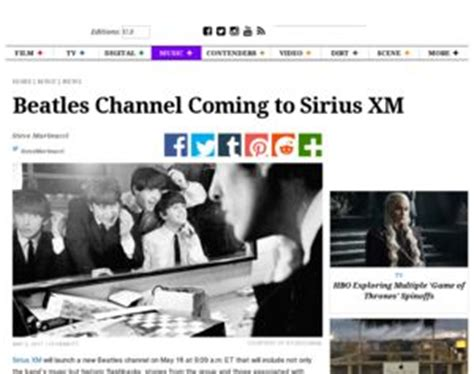What Channel Does House Come On Sirius Beatles Channel Coming To Siriusxm Variety