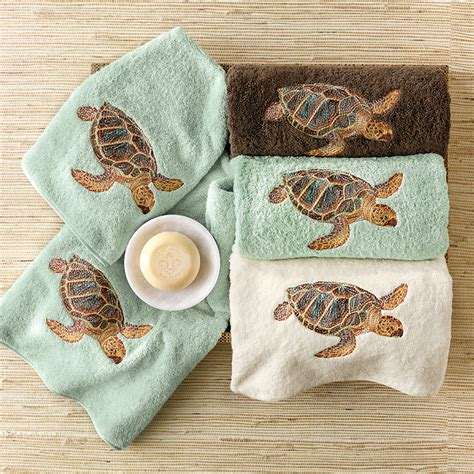 sea turtle bathroom accessories sea turtle bath towels brown gump s