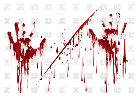 bloody images bloody prints with blood drops royalty free vector