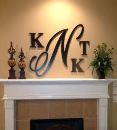 Wooden Letter Wall Decor by Large Monogram Painted Wooden Letters Wall Decor