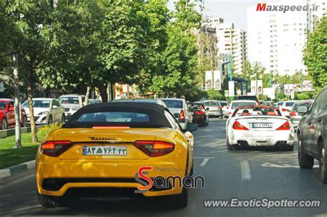 maserati iran maserati grancabrio spotted in tehran iran on 07 07 2013
