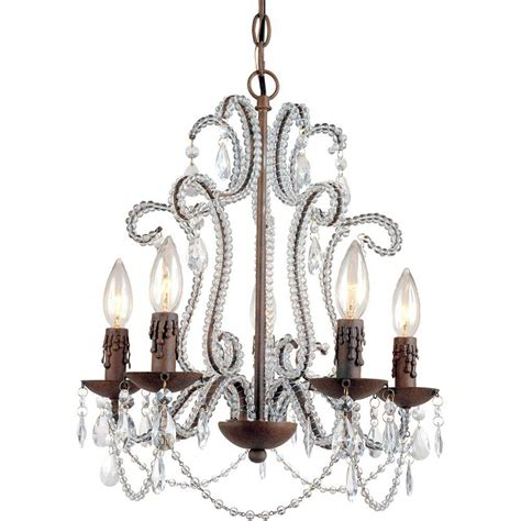 Mini Chandeliers Af Lighting Beloved 5 Light Godiva Mini Chandelier With Accents 5195 5h The Home Depot