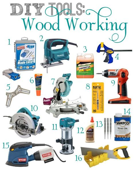 basic woodworking tools diy tools wood working wood working diy wood and teal