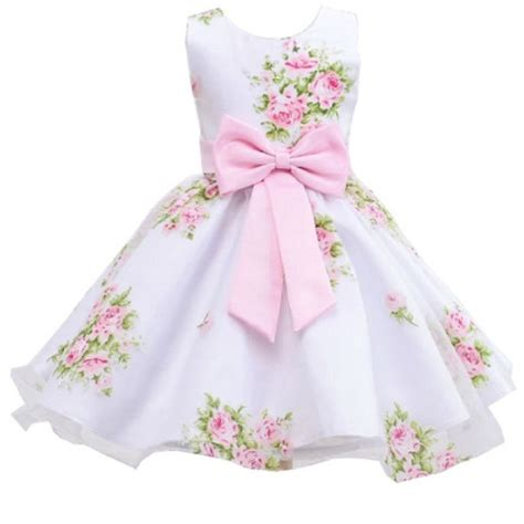 Dress Flower Baby retail new style summer baby print flower dress