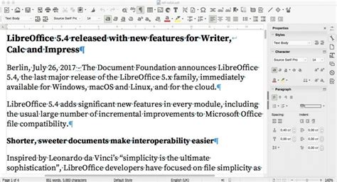 format date libreoffice libreoffice 5 4 adds more new features improves office