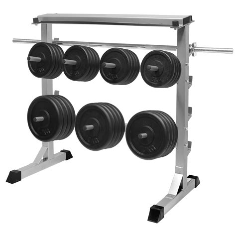 Weight Rack With Weights by Mirafit 300kg Weight Plate Bar Rack Storage Stand