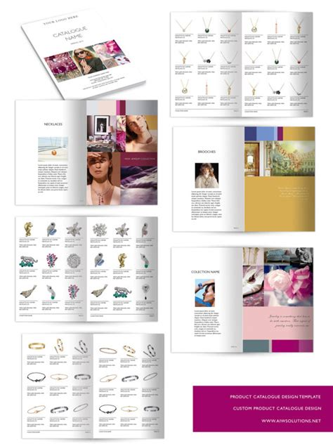 catalogue template word product catalog