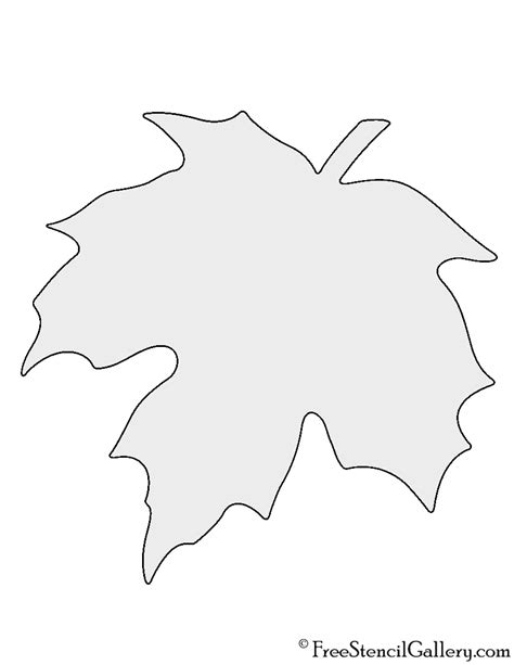 free leaf templates printable maple leaf stencil free stencil gallery
