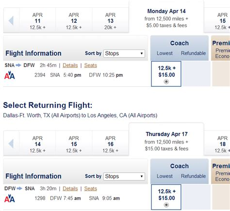 make my trip domestic airfare calendar shadow currency booking lax dfw on aa with mr for 15 500