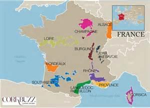 Wine Regions Of France Map by Major Wine Region Maps Corkbuzz Wine Studio
