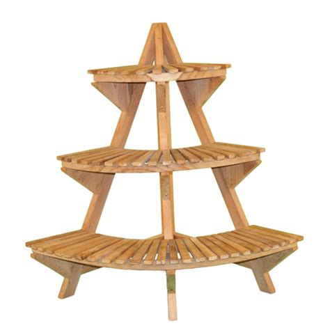 Patio Plant Stand by Teak Wood Plant Stand In Garden Plant Stands