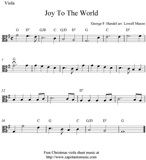 free printable sheet music viola viola sheet music for beginners christmas music free