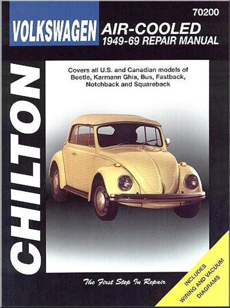 service and repair manuals 1965 volkswagen beetle engine control volkswagen beetle air cooled 1949 1969 chilton owners service repair manual 0801990734