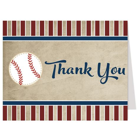 Baseball Thank You Card Template by Baseball Boy Baby Shower Invitation The Invite