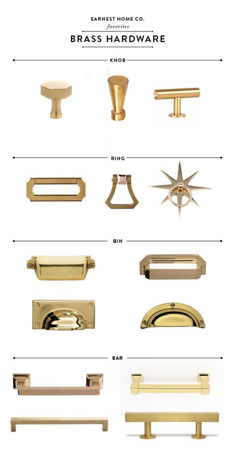 Best Brass Kitchen Hardware Earnest Home Co