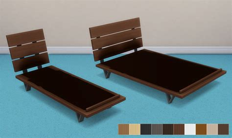 sims 4 futon bed frames and mattresses by veranka